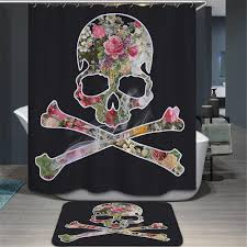 Halloween Bathroom Accessories Compare Prices On Halloween Shower Curtains Online Shopping Buy