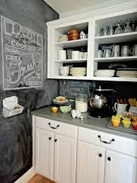 Paint For Kitchen How To Create A Chalkboard Kitchen Backsplash Hgtv