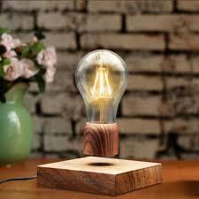 Lamp Decoration Design ICOCO Retro Magnetic Floating Lighting Bulb 100V Wood Color Base 87