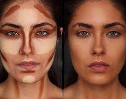 cheek contour before and after. cream contouring before \u0026 after cheek contour and g