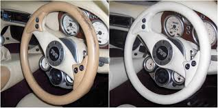 want to change the colour of the steering wheel or leather interior you can with our leather colourant kit