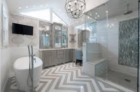 bathroom remodel design. Chevron Floor In Bathroom Remodel Design