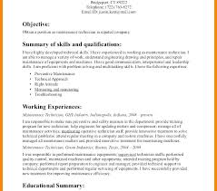 Maintenance Resume Simple Building Maintenance Resume Lovely Beauteous Resume For Maintenance Worker