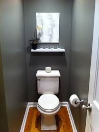 Half Bathroom Remodel Ideas Gorgeous Modern Minimalist Half Bath Decorating Ideas With Small Shelves In