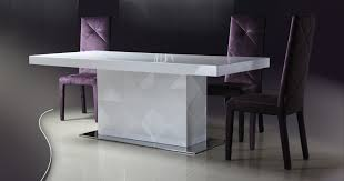 lacquer furniture modern. Las Vegas| Modern| Contemporary| Furniture Warehouse| Free Shipping| Versus Eva - White Lacquer Modern Dining Table