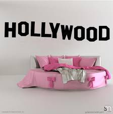 Click on our color chart above in… hollywood sign wall decal | from trendy wall designs. Hollywood Sign Decorative Wall Decals Interior Decor Graphicsmesh