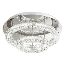 eglo 39003 toneria led crystal ceiling light polished chrome