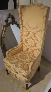 vintage tall wingback upholstered chair 1960s in good condition for in new york