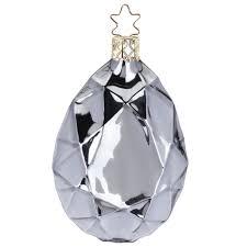 Diamant ø 85cm Fels Grau Glanz Inge Glas Christbaumschmuck