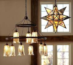 mercury glass chandelier j antique on the left pottery especially crystals