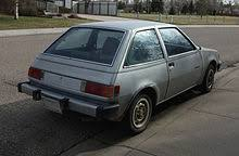 dodge colt rear view of the plymouth champ showing the large federal bumpers