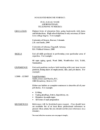 Sample Resume Of Secretarial Job