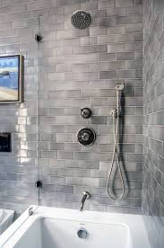 grey impressive bathtub tile ideas