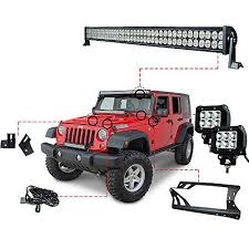 best ideas about truck led light bar jeep light the 52 inch led light bar kit and led work lights kit for jeep jk wrangler is the perfect way to upgrade your off road lighting at a great price