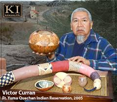 VICTOR CURRAN QUECHAN ARTIST California Indian Art Portfolio Biography