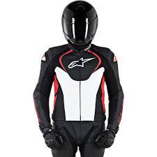 alpinestars jaws perforated leather jacket black white red