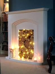 faux fireplace logs fake fire for brilliant best ideas on mantle throughout artificial insert with tea