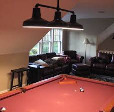 custom chandelier over pool table