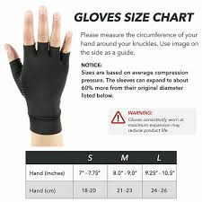 Copper Fit Gloves Size Chart Details About Compression Gloves Copper Arthritis Fit Hand Support Arthritic Joint Pain Relief