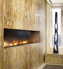 chicago wall mounted modern custom fireplace with water feature indoor use