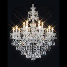 st tropez 26 inch hanging chandelier with clear crystal 3400 10 5