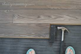 Installing Laminate Flooring By The DIY Mommy. (Allen + Roth Provence Oak  Laminate From