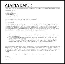 Experienced Teacher Cover Letters Reading Teacher Cover Letter Sample Cover Letter Templates Examples