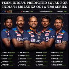 India vs SL 2021: Predicted Squad for ...