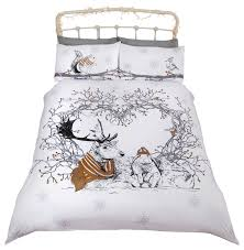 stag and friends duvet cover set eclectic duvet covers sets by rapport
