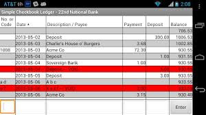 Check Ledger Book Amazon Com Simple Checkbook Ledger Free Appstore For Android