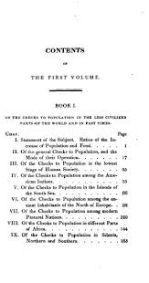an essay on the principle of population vol th ed  original table of contents or first page