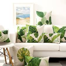 cheap office plants. water color plants nordic pillowcase home american cotton linen pillow waist cool car cushions office cheap