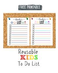 to do lis free printable kids reusable to do list by make it cozee tpt