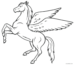 Pegasus Coloring Pages Coloring Pages Of Unicorn Colouring Page With