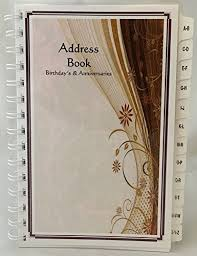 Birthday And Address Book Large Print Address Book With A Z Tabs Birthday Anniversary Calendar