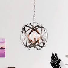 3 lights polished chrome sphere light fixture for elegant dining room decor