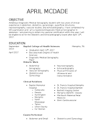 April Mcdade Resume Medical Ultrasound Echocardiography