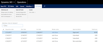 Personal Time Off Request Form Projects Pto Request Functionality In Microsoft Dynamics 365 For