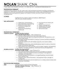 Resume Template For Cna Extraordinary Resume Example Resume Template For Nursing Assistant Resume Cover