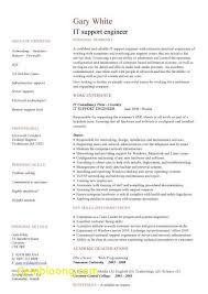 Beautiful It Support Engineer Sample Resume B4 Online Com