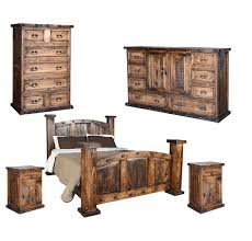 rustic wood bedroom sets. Exellent Wood Old West Rustic Bedroom Set On Wood Sets N