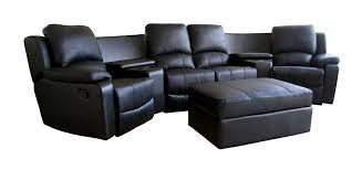 curved leather recliner sofa set