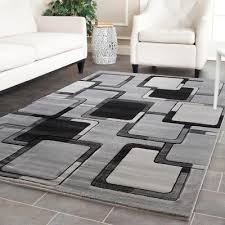 exclusive hand carved rugs 5x8 modern abstract black gray area rug new carpet