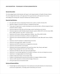 technology systems administrator job description linux administrator job description