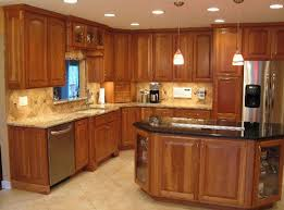 Image Wood Floors Cherry Cabinets Tile Floor Pinterest Cherry Cabinets Tile Floor House Ideas Pinterest Kitchen