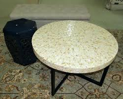 pier one storage bench item cocktail table and garden seat including mother of pearl style round
