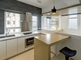 Small Eat-In Kitchen With Light Wood Island