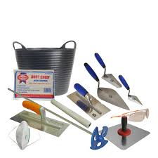 plasterers tool kit bundle with complete list of tools for plastering