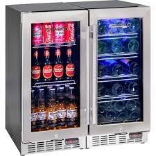 Wine and beer underbench glass door bar fridge combination with quiet beer  wine bar fridge yc100