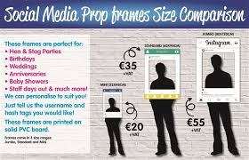 social media prop frames on thumbnails to view more examples